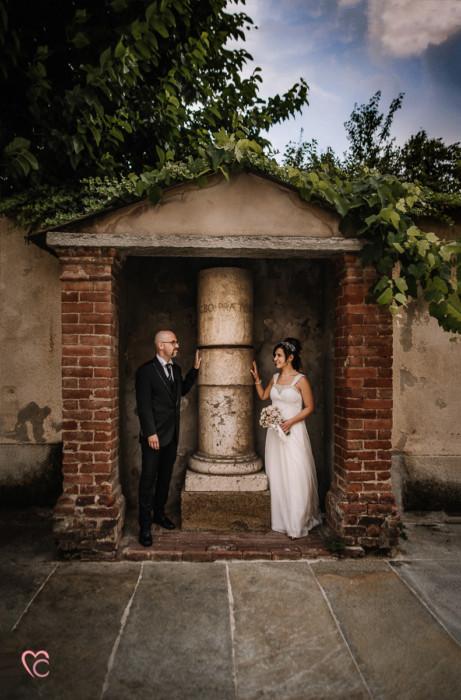 Matrimonio al Municipio di riva presso chieri, sposi, nuvoloso