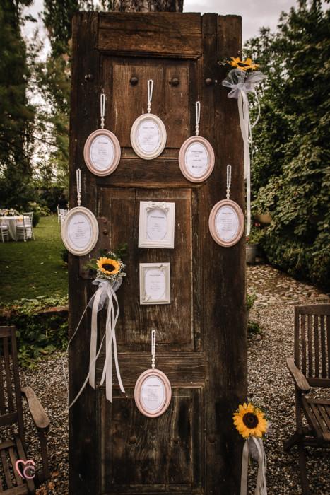 Ricevimento nuziale al Mulino della torre di Riva presso Chieri, tableau de mariage