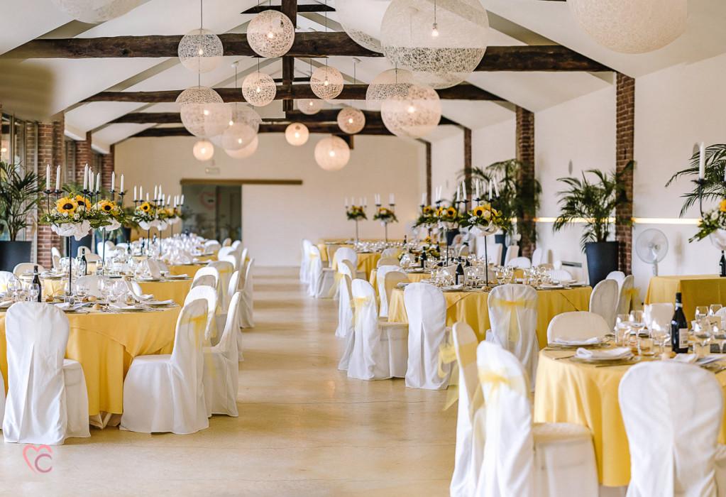 Matrimonio a La morra, ricevimento, sala