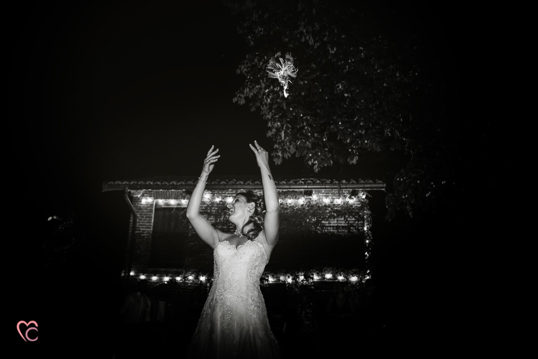 Matrimonio a La morra, ricevimento, lancio del bouquet