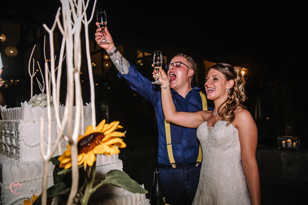 Matrimonio a La morra, ricevimento, taglio della torta