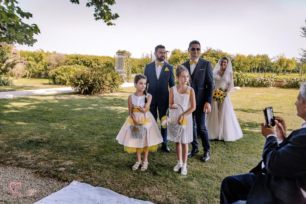Matrimonio a La morra, cerimonia, corteo nuziale