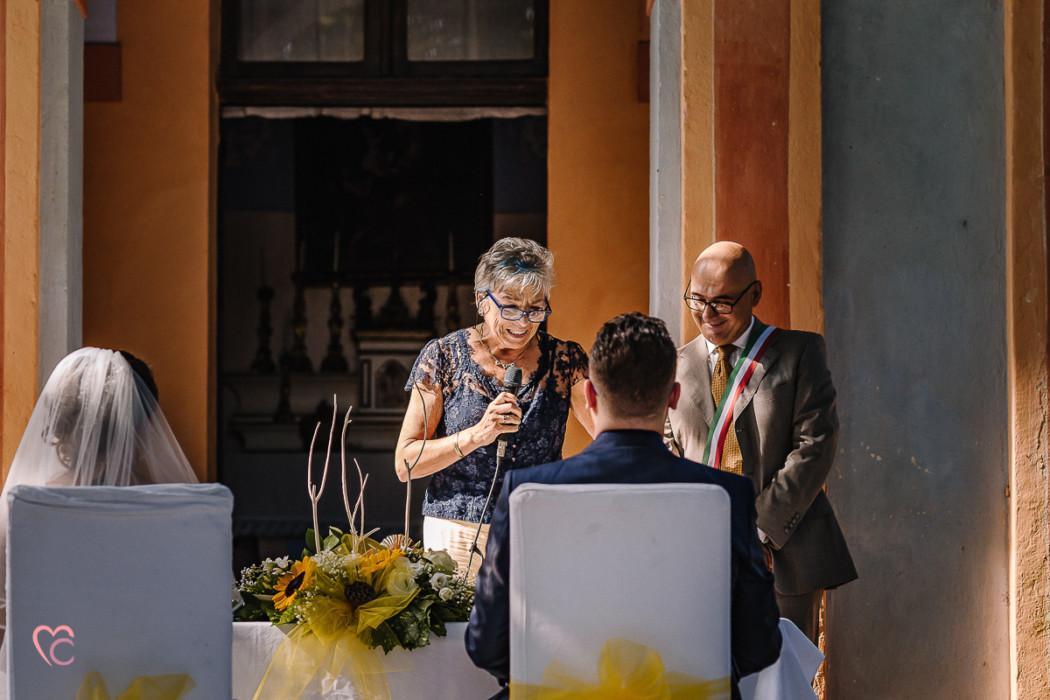 Matrimonio a La morra, cerimonia, nonna dello sposo