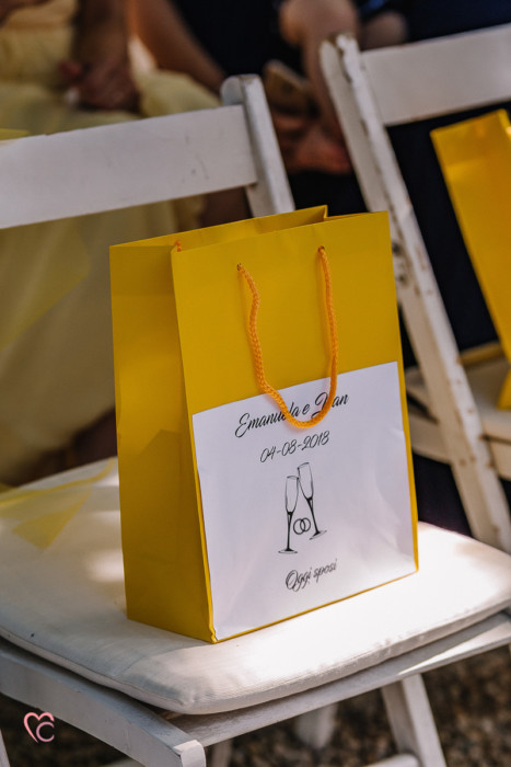 Matrimonio a La morra, cerimonia, wedding bag